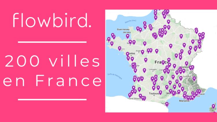 200 villes flowbird en France